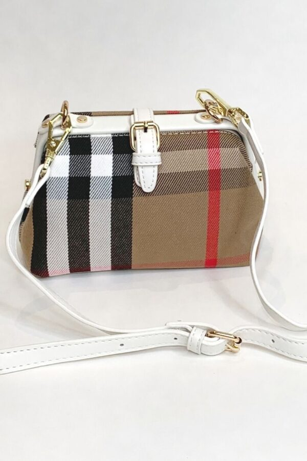 White Stripe Handbag - Snooty Frox