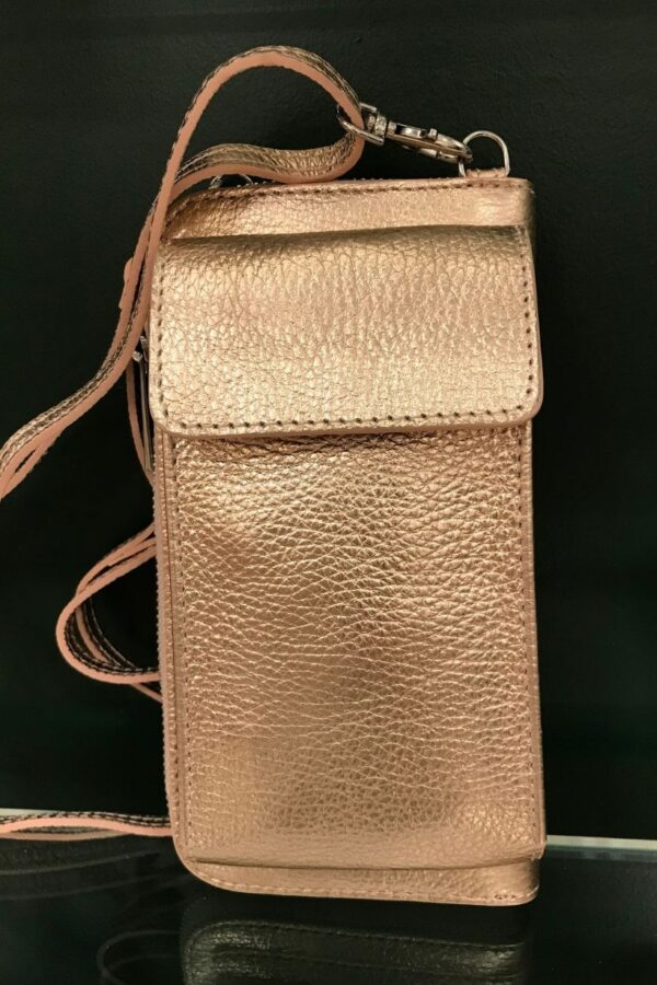 Rose Gold Phone Handbag