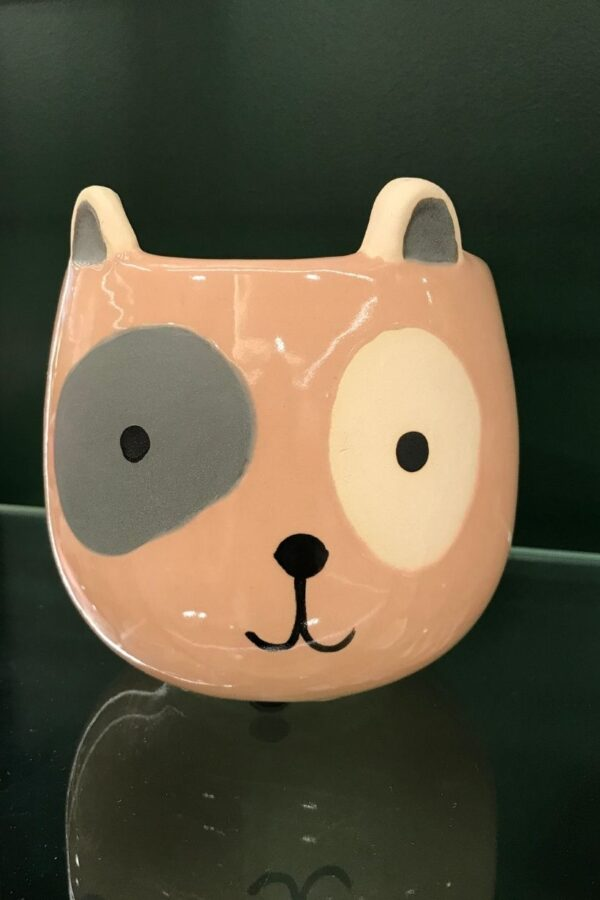 Pink Pot Dog Planter