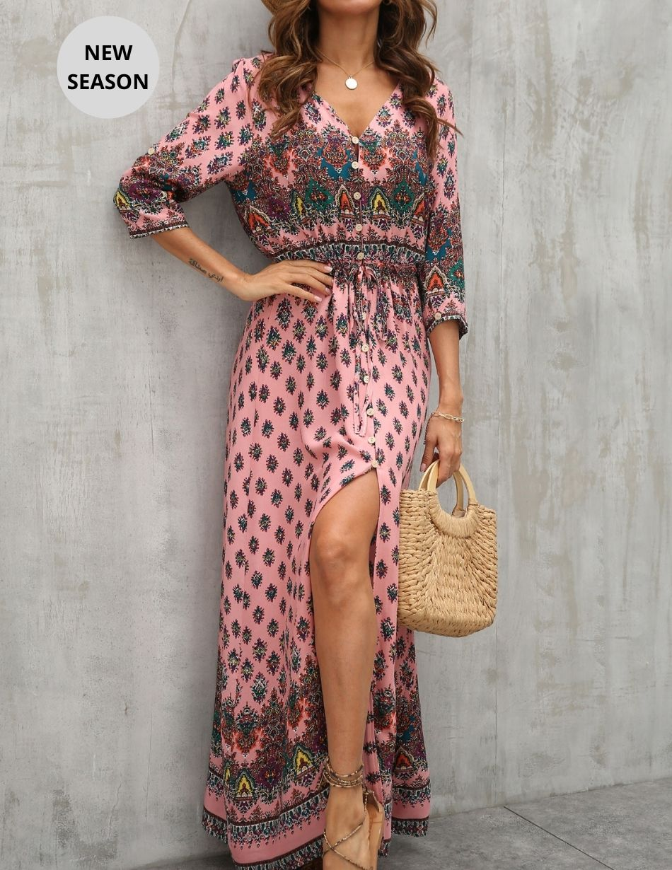 Pink Paisley Dress - Snooty Frox