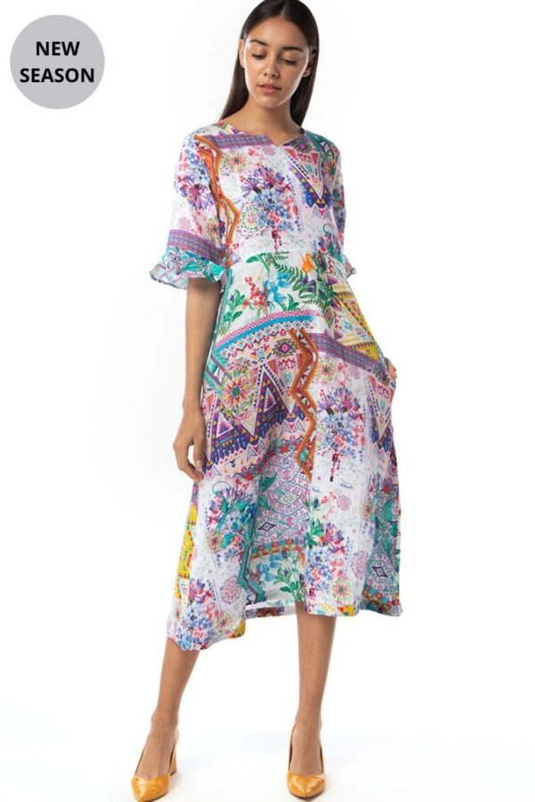 Inoa Print Dress - Snooty Frox