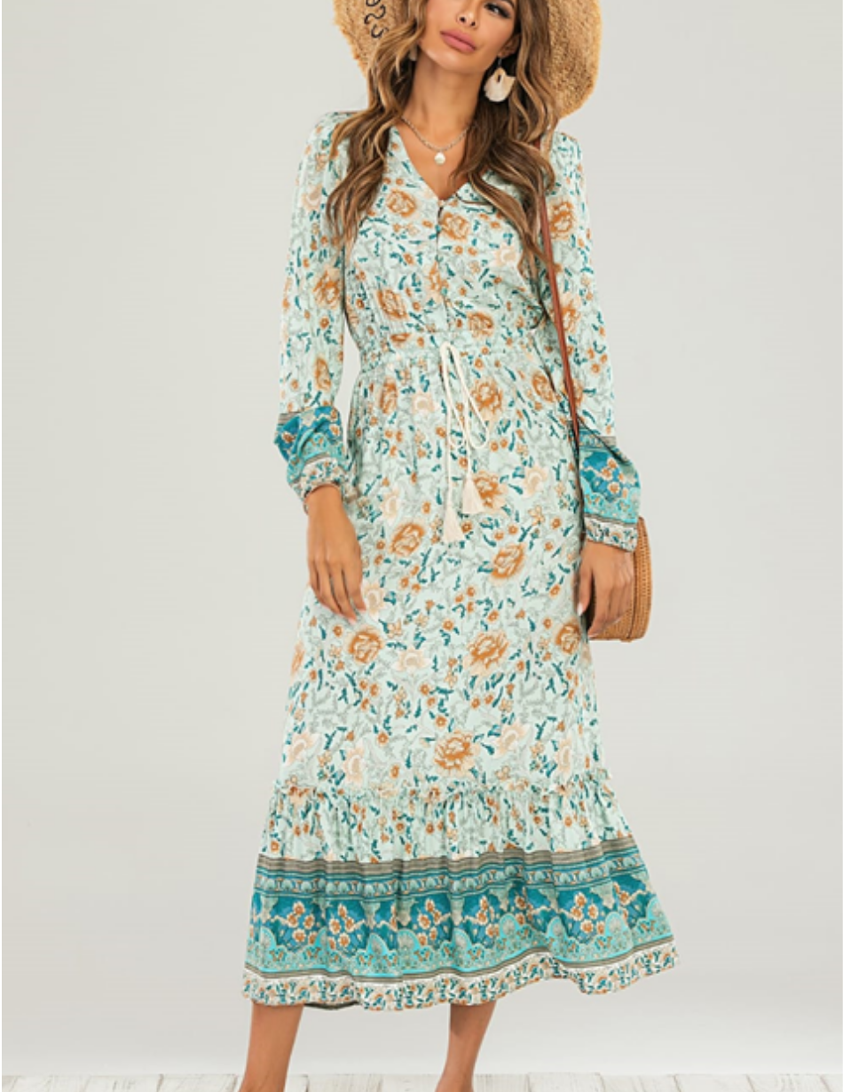 Floral Maxi Dress - Snooty Frox