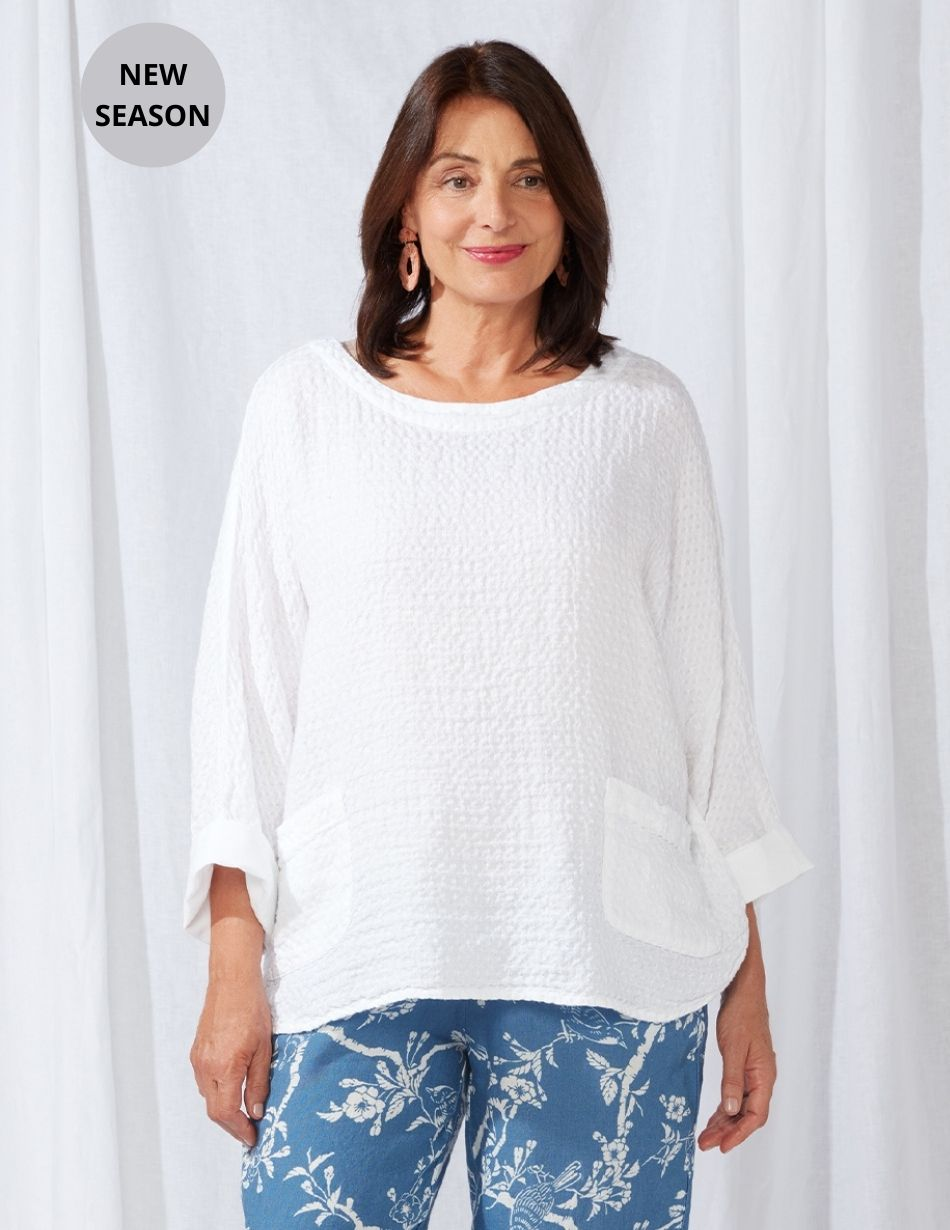Sahara White Top - Snooty Frox
