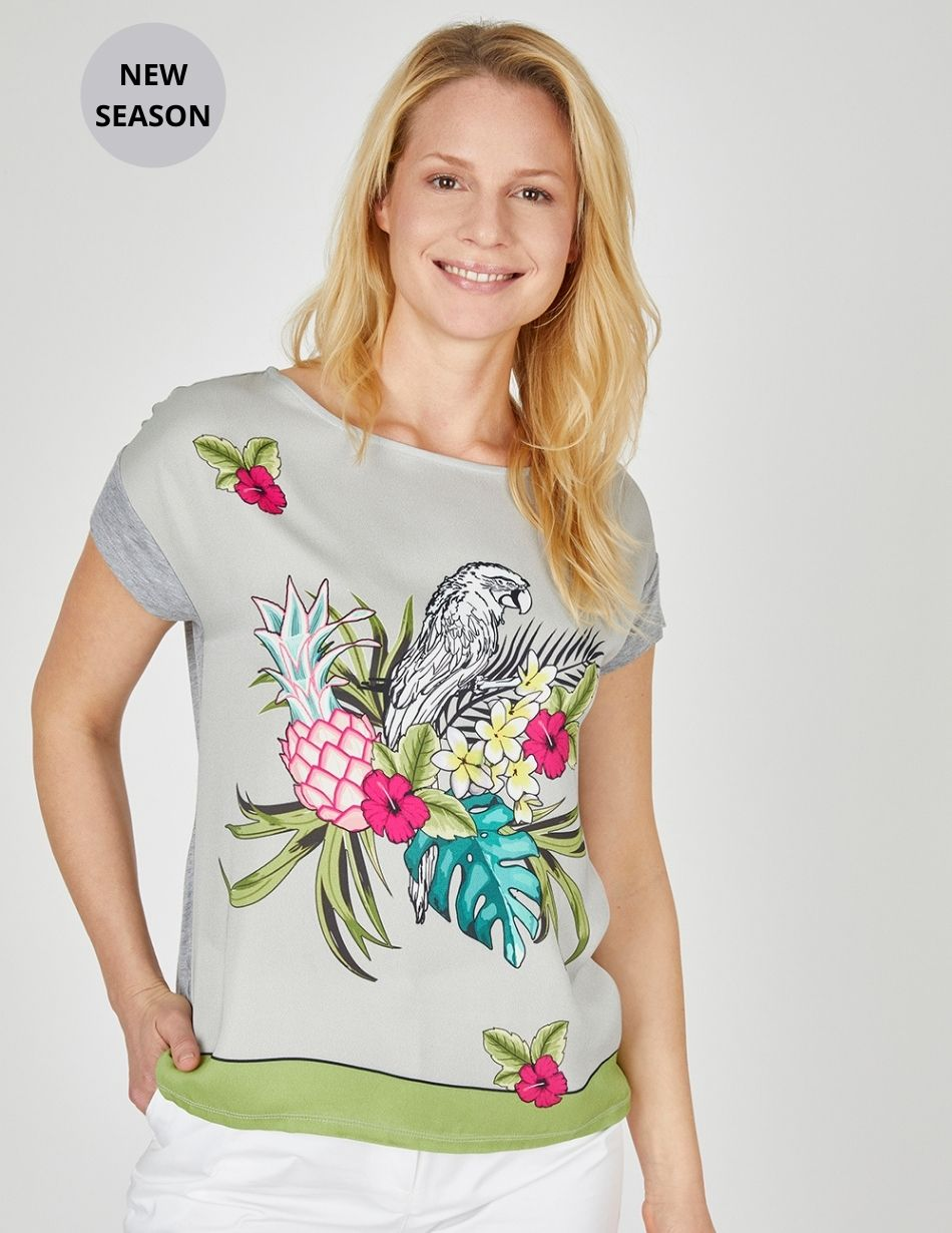 Eve In Paradise Print Top - Snooty Frox