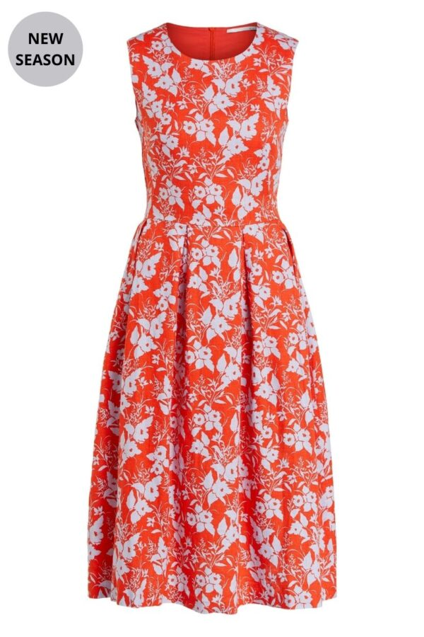 Oui Red Print Dress - Snooty Frox