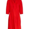 Oui Red Ruffle Dress - Snooty Frox