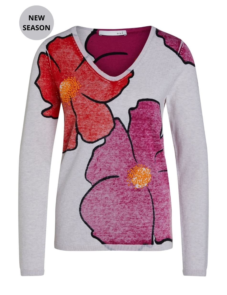 Oui Floral Pullover - Snooty Frox