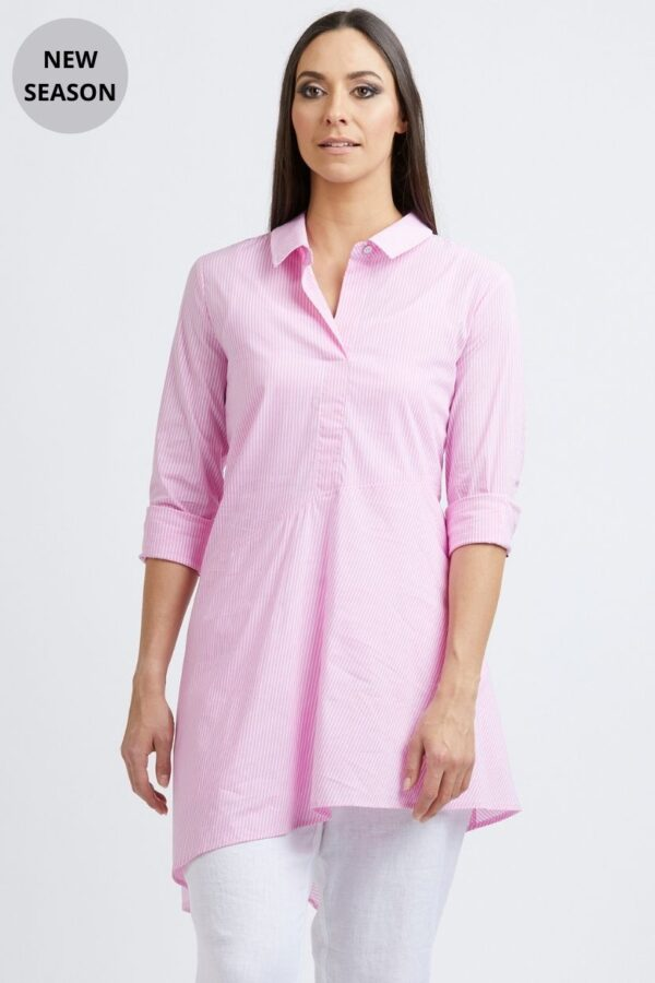 Foil Pink Stripe Shirt - Snooty Frox