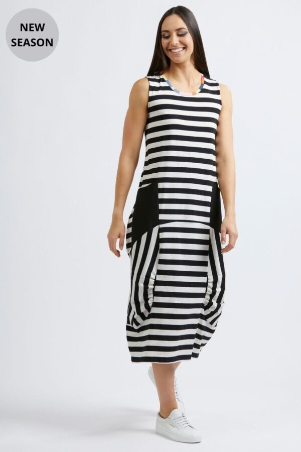Foil Stripe Dress - Snooty Frox