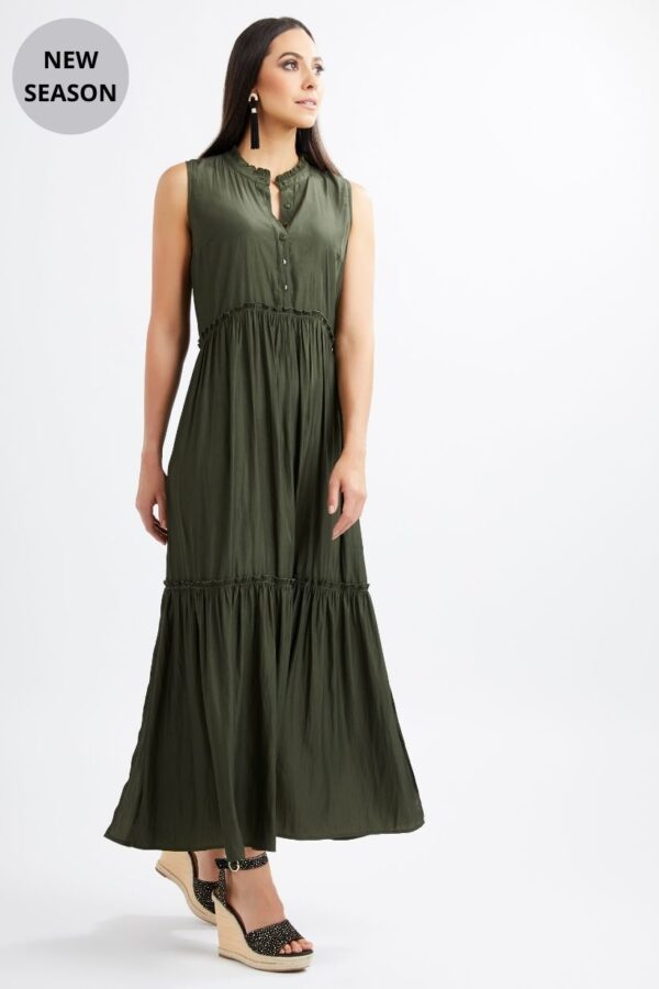 Foil Olive Dress - Snooty Frox