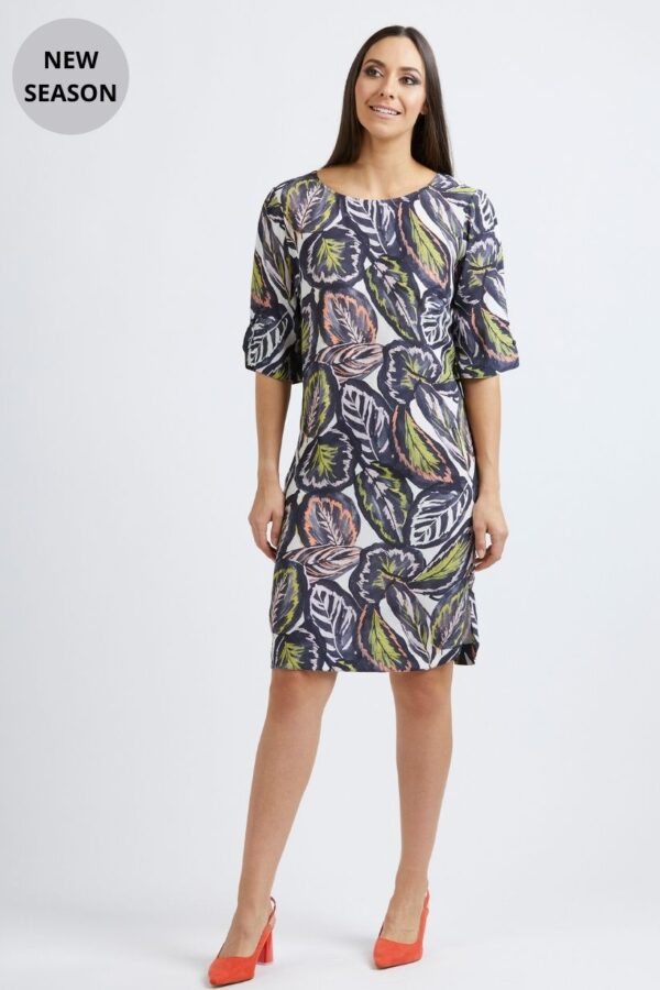 Foil Tropical Leaf Dress - Snooty Frox