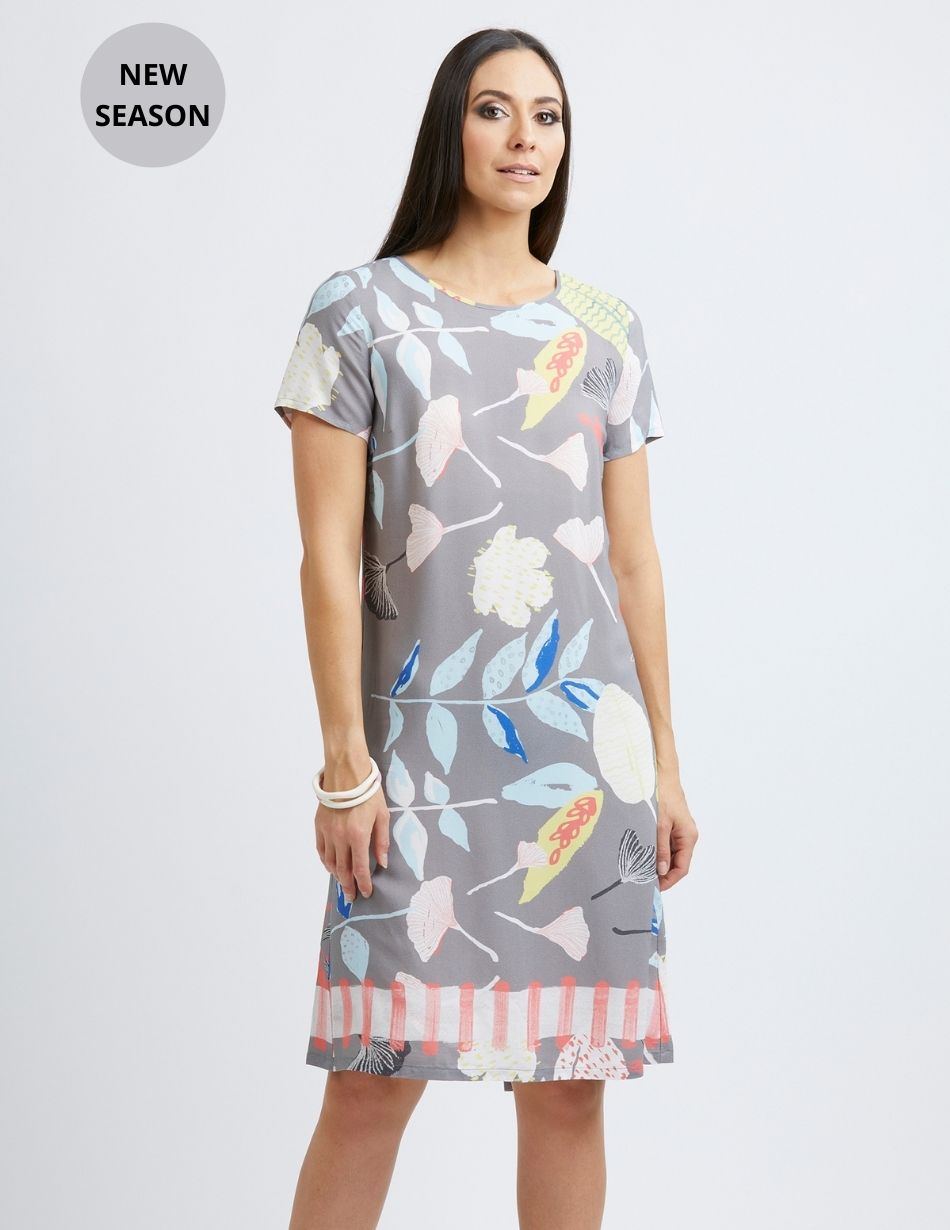 Foil Print Dress - Snooty Frox