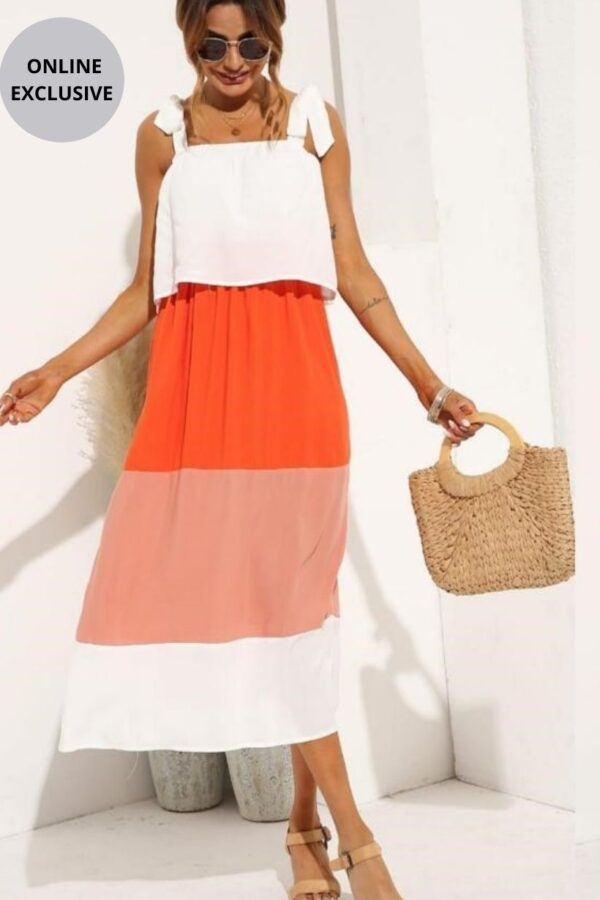 Summer Colour Block Dress - Snooty Frox