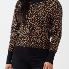 Snooty Frox Camel Leopard Sweater